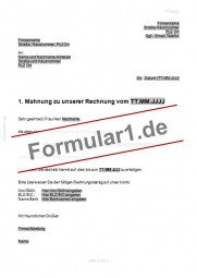 1. Mahnung - Zahlungserinnerung (neutral)