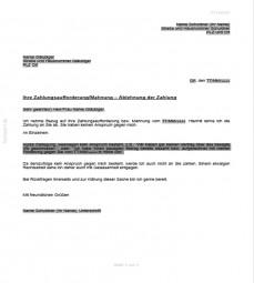 Ablehnung einer Zahlung (außergerichtlich)