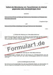 Nutzungsverbot Internettauschbörse/Filesharing